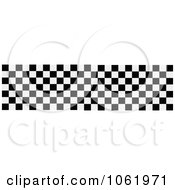 Clipart Racing Checkered Flag Banner Royalty Free Vector Illustration