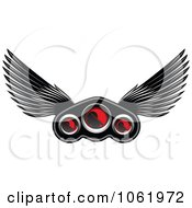 Clipart Winged Race Car Speedometer 1 Royalty Free Vector Illustration by Vector Tradition SM