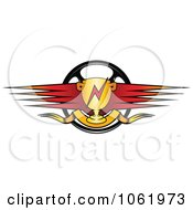 Clipart Race Car Trophy Banner 1 Royalty Free Vector Illustration
