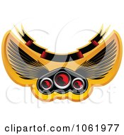Clipart Winged Race Car Speedometer 2 Royalty Free Vector Illustration by Vector Tradition SM