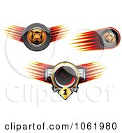 Clipart Speedometer And Race Car Tires Royalty Free Vector Illustration