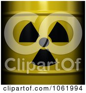 Clipart Close Up Of A 3d Radioactive Nuclear Waste Barrel Royalty Free CGI Illustration