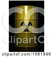 Clipart 3d Radioactive Nuclear Waste Barrel Royalty Free CGI Illustration