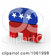 Clipart 3d Republican Elephant Royalty Free CGI Illustration