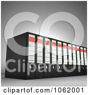 Clipart 3d Archival Ring Binders Royalty Free CGI Illustration by stockillustrations