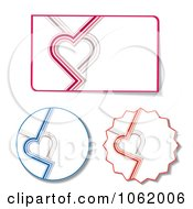 Clipart Heart Design Elements Digital Collage Royalty Free Vector Illustration by MilsiArt