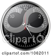 Clipart 3d Black Wall Clock Royalty Free Vector Illustration by elaineitalia
