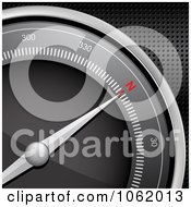 Clipart 3d Compass Directed North Royalty Free Vector Illustration by elaineitalia