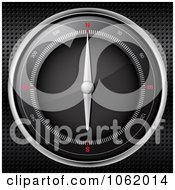 Clipart 3d Compass Pointing North Royalty Free Vector Illustration