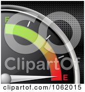 Clipart 3d Gas Gauge On Empty Royalty Free Vector Illustration