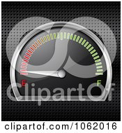 Clipart 3d Gasoline Gauge On Empty Royalty Free Vector Illustration