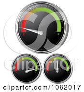Poster, Art Print Of 3d Gasoline Gauges Digital Collage