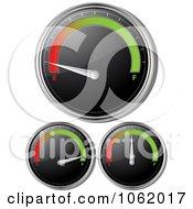Clipart 3d Gasoline Gauges Digital Collage Royalty Free Vector Illustration