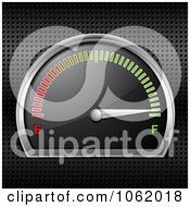 Clipart 3d Gasoline Gauge On Full Royalty Free Vector Illustration by elaineitalia