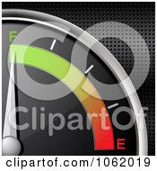 Clipart 3d Gas Gauge On Full Royalty Free Vector Illustration by elaineitalia