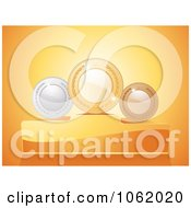 Clipart 3d Laurel Medals On Podiums Royalty Free Vector Illustration
