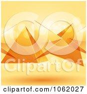 3d Orange Floating Pyramids