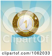 Clipart Winning Bingo Ball On A Podium Royalty Free Vector Illustration