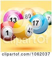 Clipart Lotto Balls On Orange Royalty Free Vector Illustration