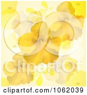 Clipart Hibiscus Flowers On Yellow Royalty Free Vector Illustration by elaineitalia
