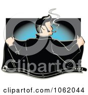 Clipart Retro Rockabilly Greaser Opening His Jacket Royalty Free Vector Fifties Illustration by Andy Nortnik