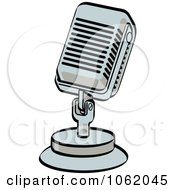 Clipart Retro Desk Microphone Royalty Free Vector Entertainment Illustration