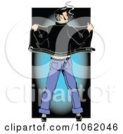 Clipart Retro Rockabilly Greaser From Behind Royalty Free Vector Fifties Illustration by Andy Nortnik