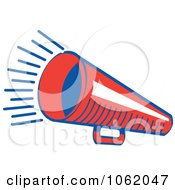 Clipart Retro Red Megaphone Royalty Free Vector Announcement Illustration