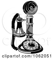 Retro Candlestick Phone In Black And White