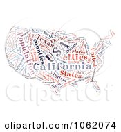 Clipart United States Map Word Collage 2 Royalty Free Illustration by MacX