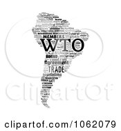 Clipart South America World Trade Organization Word Collage Royalty Free Illustration by MacX