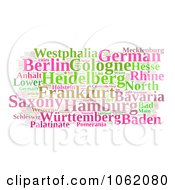 Clipart German Word Collage Royalty Free Illustration by MacX