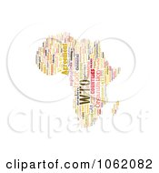 Clipart Africa Map World Trade Organization Word Collage 1 Royalty Free Illustration by MacX