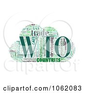 Clipart World Trade Organization Word Collage 1 Royalty Free Illustration