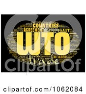 Clipart World Trade Organization Word Collage 2 Royalty Free Illustration