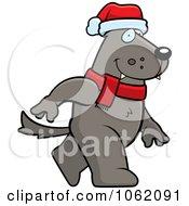 Christmas Wolf Walking by Cory Thoman
