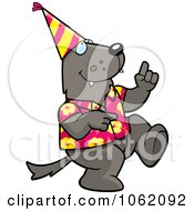 Clipart Wolf Dancing At A Party Royalty Free Vector Illustration