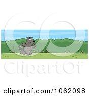 Clipart Running Wolf Website Header Royalty Free Vector Illustration
