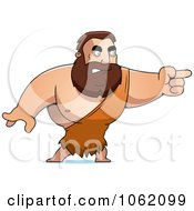 Clipart Big Barbarian Pointing Royalty Free Vector Illustration by Cory Thoman