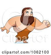 Clipart Big Barbarian Walking Royalty Free Vector Illustration by Cory Thoman