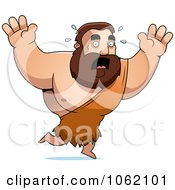 Clipart Big Barbarian Running Scared Royalty Free Vector Illustration by Cory Thoman