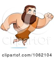 Clipart Big Barbarian Leaping Royalty Free Vector Illustration by Cory Thoman