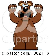 Clipart Big Bear Roaring Royalty Free Vector Illustration by Cory Thoman