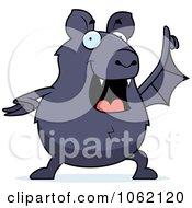 Clipart Chubby Bat With An Idea Royalty Free Vector Illustration