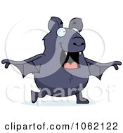 Clipart Chubby Bat Walking Royalty Free Vector Illustration by Cory Thoman