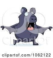 Clipart Chubby Bat Walking Royalty Free Vector Illustration