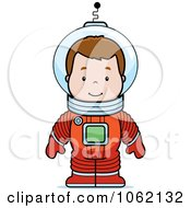Clipart Astronaut Boy Royalty Free Vector Illustration