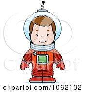 Clipart Astronaut Boy Royalty Free Vector Illustration