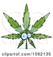 Poster, Art Print Of Cannabis Pot Leaf Character