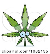 Clipart Cannabis Pot Leaf Character Royalty Free Vector Illustration